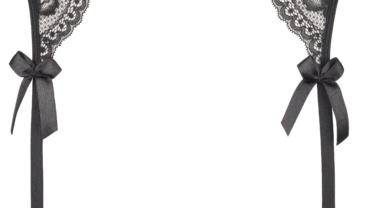 Pas do pończoch/Garter belt V-6472 Noir