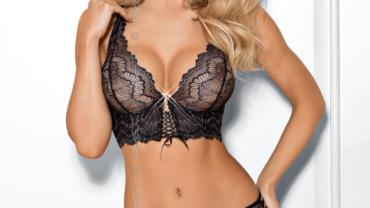 Półgorset miękki/Semi-corset soft V-7761 Praline