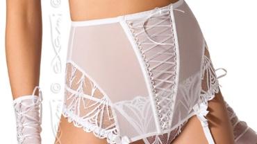 Pas do pończoch/Garter belt V-5162 White Lily